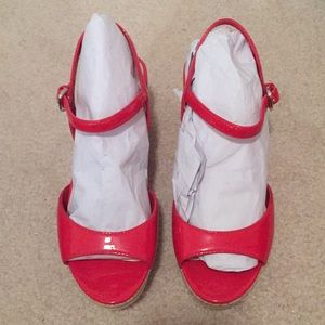 New Prada Red White Sandals